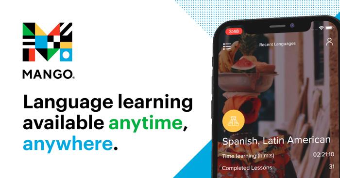 Mango - language learning available anytime anywhere